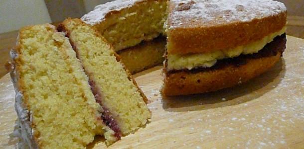 kolay muhallebili kek